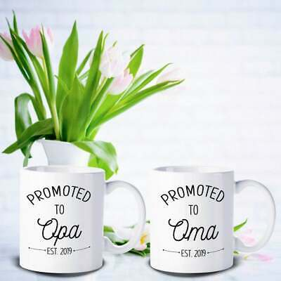 Oma And Opa Coffee Mug Pregnancy Announcement German Grandparents Gift