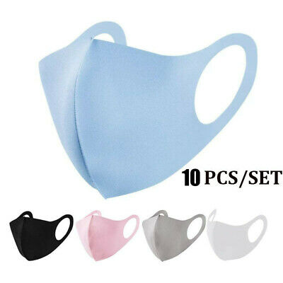 Adult & Child Pack of 10PCS Reusable Washable Breathable Face Masks Sponge Soft