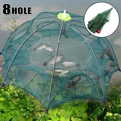 MAGIC FISHING TRAP 8 Holes Full Automatic Folding Shrimp Cast Cage ...