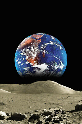 """Malcolm Watson Earth From Moon Outer Space Astronomy Photograph Poster 24""""x36"""""""