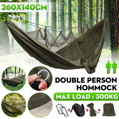 2 PERSON CAMPING Hammock With Integral Mosquito Net Plus