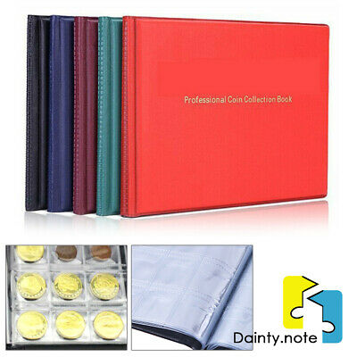 240 Collection Storage Penny Pockets Money Album Book Collecting Coin Holder New
