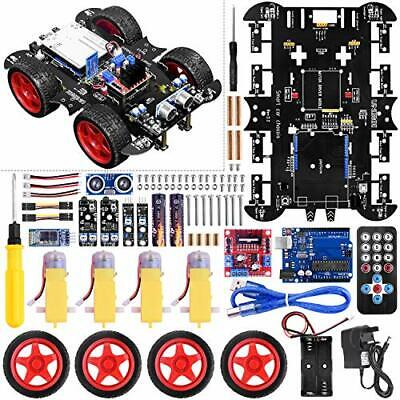 UNIROI Smart Robot Car Kit, 4WD Remote Control Car with Obstacle Avoidance
