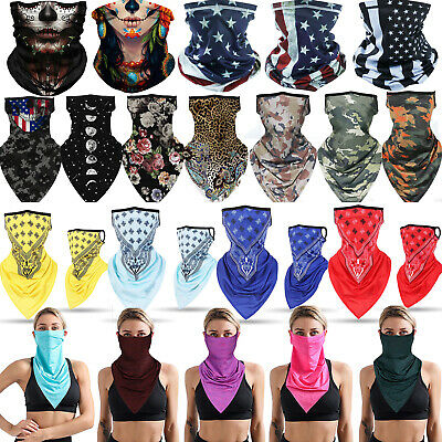 Summer Breathable Balaclava Neck Gaiter Tube Bandana Face Mask Cover Washable