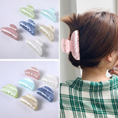 2020 New Arrival Hairdress Women Scrub Plastic Hair Claw Large Size Hair Clip