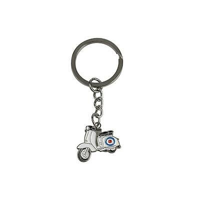 Mod RAF Roundel Vespa Lambretta Pear Shaped Leather//Metal Keyring