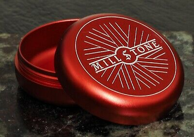 Smell Proof Red AirTight Container Box Millstone Tobacco Herb Storage Jar