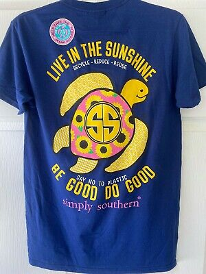 """Youth Simply Southern /""""Live In The Sunshine Be Good Do Good/"""" Recycle Sunflowers"""