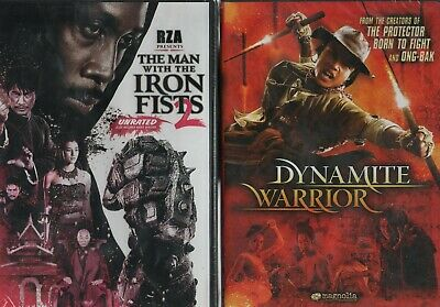 Lot of 2 DVD's The Man with the Iron Fists 2 & Dynamite Warrior NEW