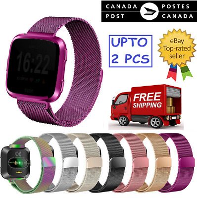 New Magnetic Milanese Metal Band Stainless Steel Band Strap For Fitbit Versa CA