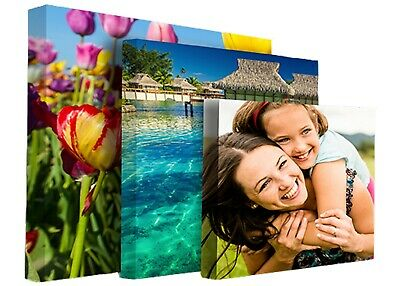 "6Your Personalised Photo on Canvas Print 16"" x 20"" Framed A2 Ready to Hang"