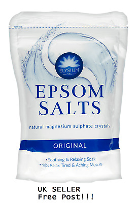 Elysium Spa Epsom Bath Salts Crystal 450g Natural Magnesium Sulphate Relaxing