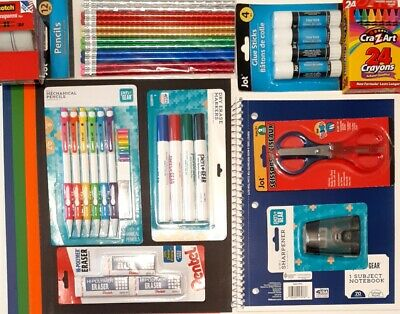 Elementary Back to School Kids lot list Supplies