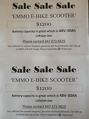 Other Makes: Emmo Emmo E-bike Scooter