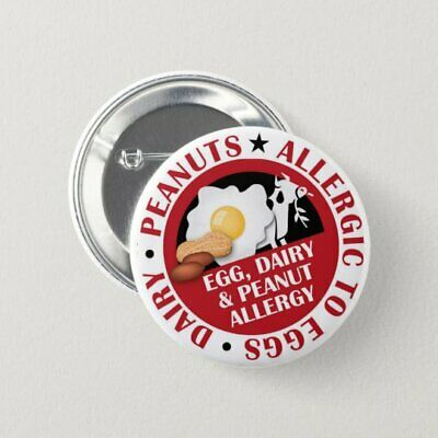 Penicillin Allergy Warning Badges Penicillin Awareness Button Badge 58mm Gloss