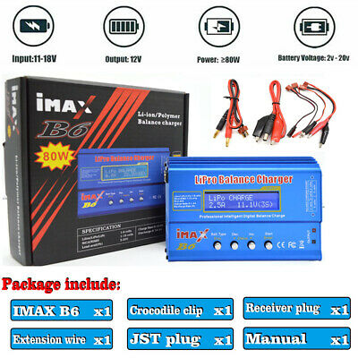 HTRC iMAX B6 80W Digital LCD RC Lipo Battery Balance Charger Balance Discharger