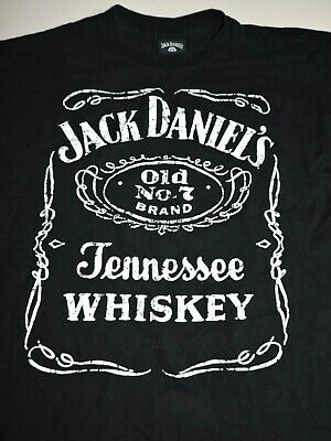 OffICIAL JACK DANIELS OLD No 7 CLASSIC BLACK/&WHITE T SHIRT