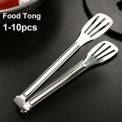 1-10X Restaurant Food Service Clamp Tong Cookware BBQ Utensil Kitchen Cooking