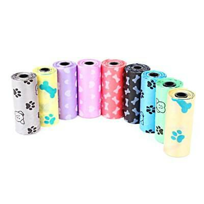 60 (4 Rolls) Large Strong Dog Poo Bags, Eco Friendly, Paw Print Design Durable