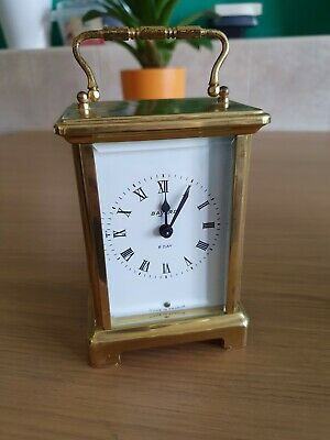 Vintage French Brass Mechanical Carriage Clock By Bayard 8 Day
