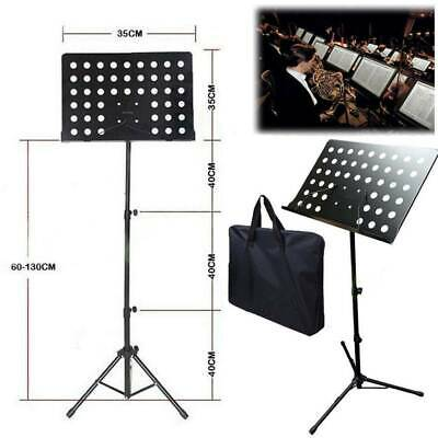 Heavy Duty Metal Foldable Music Stand Holder Tripod Orchestral Conductor Sheet