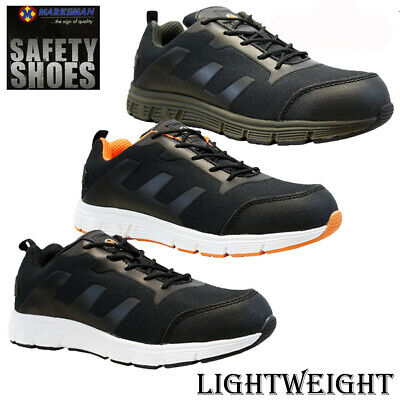 Grippers Mens Lightweight Safety Trainer Shoes with Steel Toe Protection Available in Sizes 4-14 with European Safety Rating SB SRA EN ISO 20345:2011