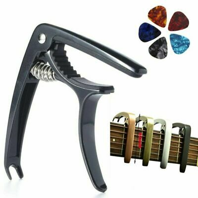 Premium Guitar Capo Trigger Clamp 5 picks For Acoustic Guitar Banjo accessories