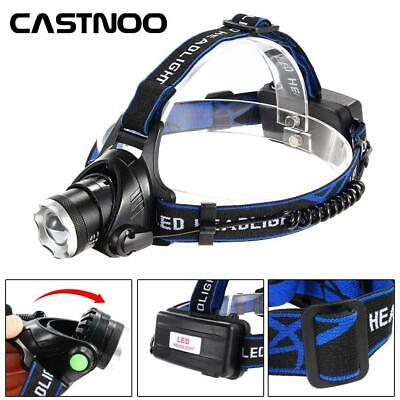 2X 900000LM Zoomable LED Headlamp Rechargeable Headlight T6 18650 Head torch AL