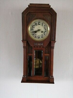 Antique HAC Wall Clock working with key and pendulum