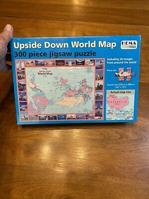 """24""""x36"""" Maps Upside Down Political World Map. Vintage maps, Rare maps New Sealed"""