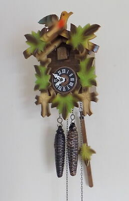 Small Size Vintage Black Forest Traditional Style Cuckoo Clock - Fully Working