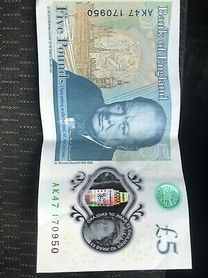 AK47 £5 Polymer, Highly Collectible Item, Note In Good Condition Postage Paid