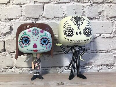 Funko Pop! Nightmare Before Christmas Day of the Dead Jack & Sally Glow Set