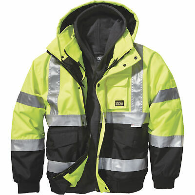 Gravel Gear High-Visibility 3-in-1 Bomber Jacket, Large