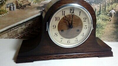 Napoleon Hat style striking clock in  original serviced working condition