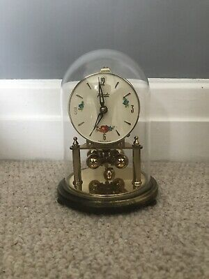 Kundo Anniversary Mantle Clock under glass dome: VERY RARE, Collectable