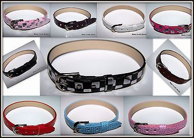 Boys Girls Teenagers Faux Leather Wristband Belt 17cm-22cm 10 colours Xmas Gift