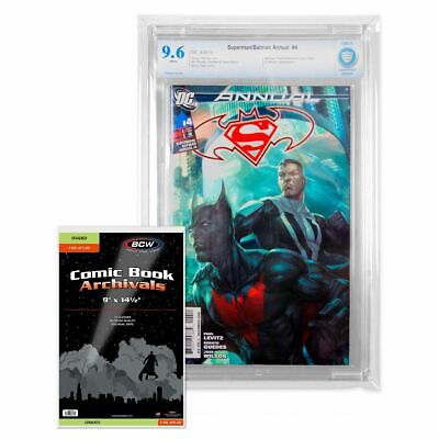 1 pack of 10 - BCW 4mil Graded Comic Mylar Sleeves