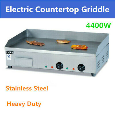 4400W Electric Griddle Kitchen Flat Hot plate BBQ Grill Bacon Large Countertop