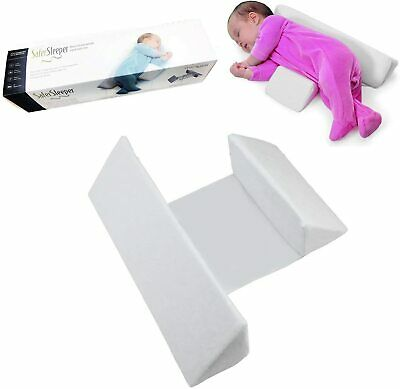 Baby Side Sleep Pillow Wedge Adjustable Sleep Cushion Anti Roll Soft Velvet USA