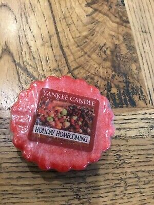 Yankee Candle Wax TART Melt HOLIDAY HOMECOMING USA Christmas Holidays RETIRED