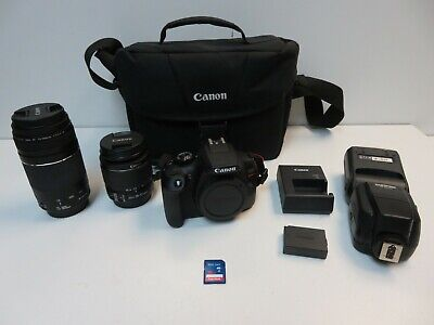 Canon EOS Rebel T6 18.0MP Digital SLR Camera with 18-55 mm and 75-300mm Lenses
