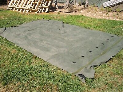 MILITARY SURPLUS 11x11 COMMAND POST TENT SKIN WALL PLAIN WALL VERY GOOD US ARMY
