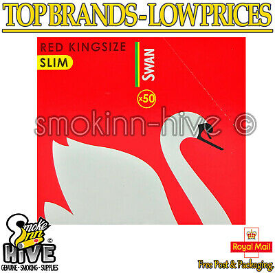 Swan Red King Size Slim Rolling Papers 50 Booklets