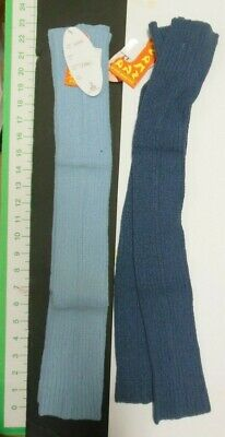 "legwarmers 2 colors of blue ladies 27"" thigh high Ballet legcovers 77%SILK"