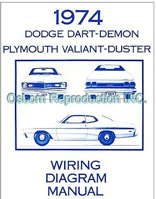 1971 Plymouth Valiant Duster Wiring Manual 8 99 Picclick