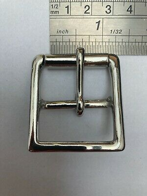 "3//4/"" Flat Pressed Dee D Ring Cast Nickel Plated Leather work Dog Collars Bags"