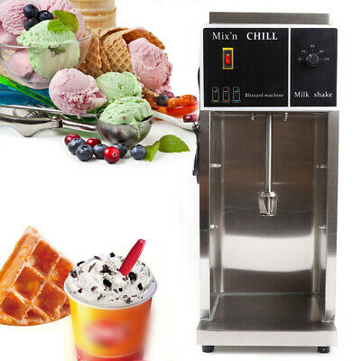 Ice Cream Mixer Machine 350W Electric Auto Blizzard Shaker Blender Commercial