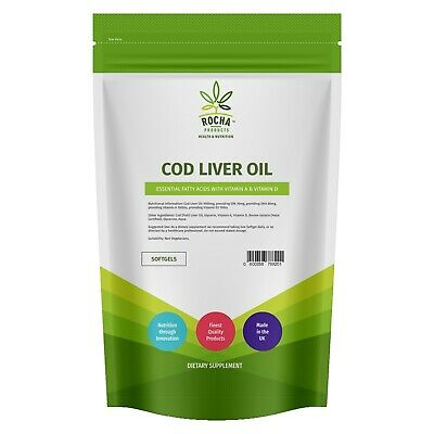 Cod Liver Oil Vegetarian Capsules 1000mg, 360 Softgels, High Strength, Omega 3,