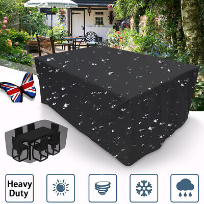 Heavy Duty Waterproof Garden Patio Furniture Cover Outdoor Large Rattan Table UK